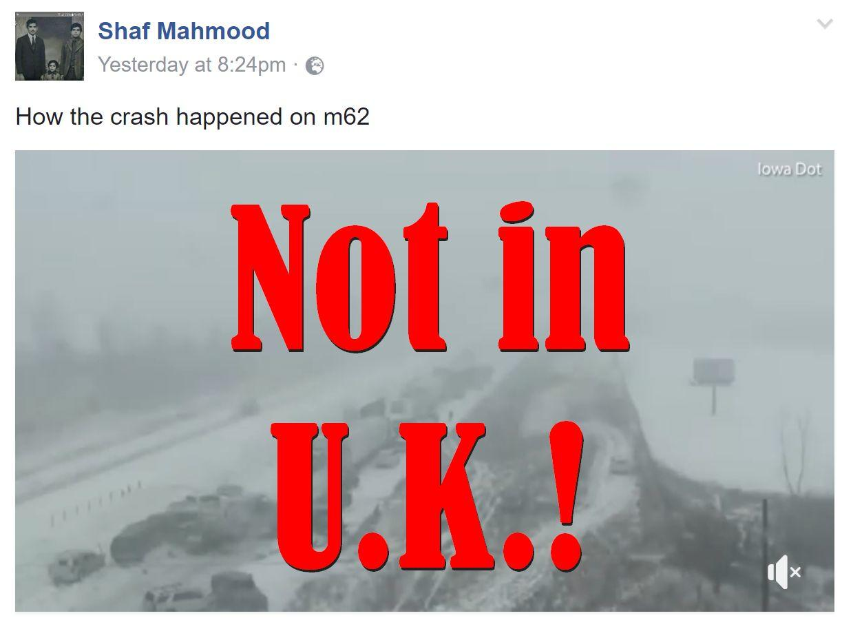 Fake News: Video Does NOT Show How M62 Crash Happened
