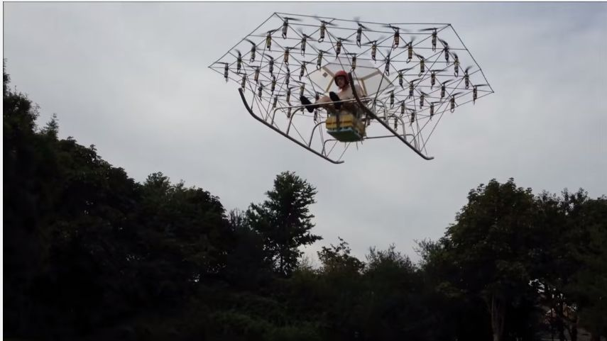 Trending Video: Manned 54-Rotor Drone Test Flight