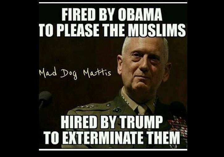 FOX News Panelist Calls For Muslim 'Extermination' In Facebook Post: Trump Hired 'Mad Dog' Mattis To Carry It Out