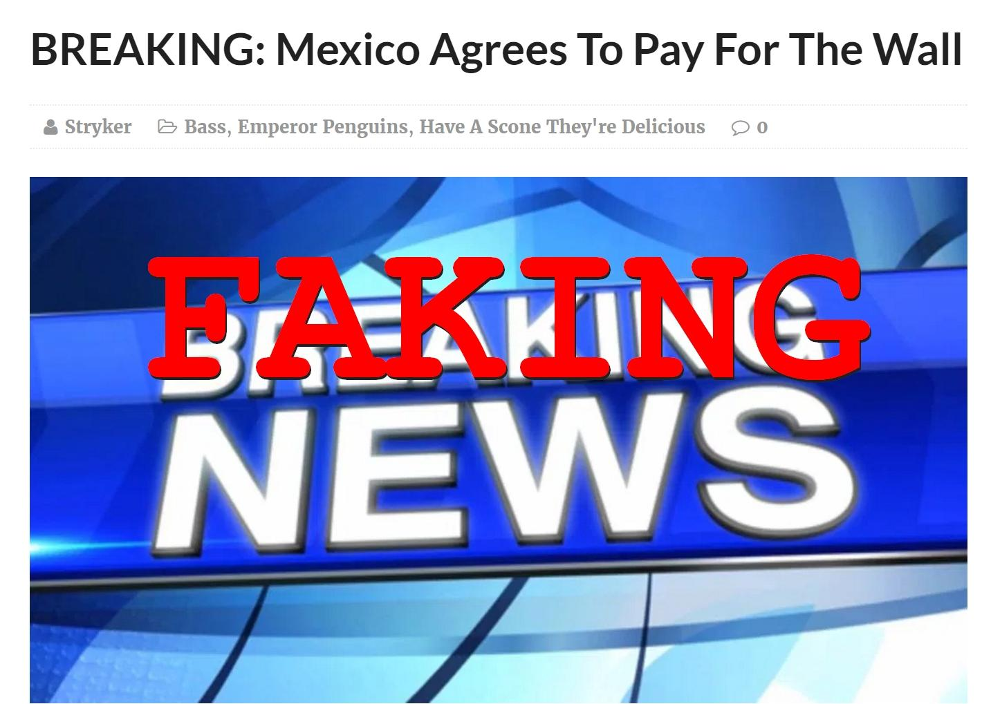 Fake News: Mexico Did NOT Agree To Pay For The Wall