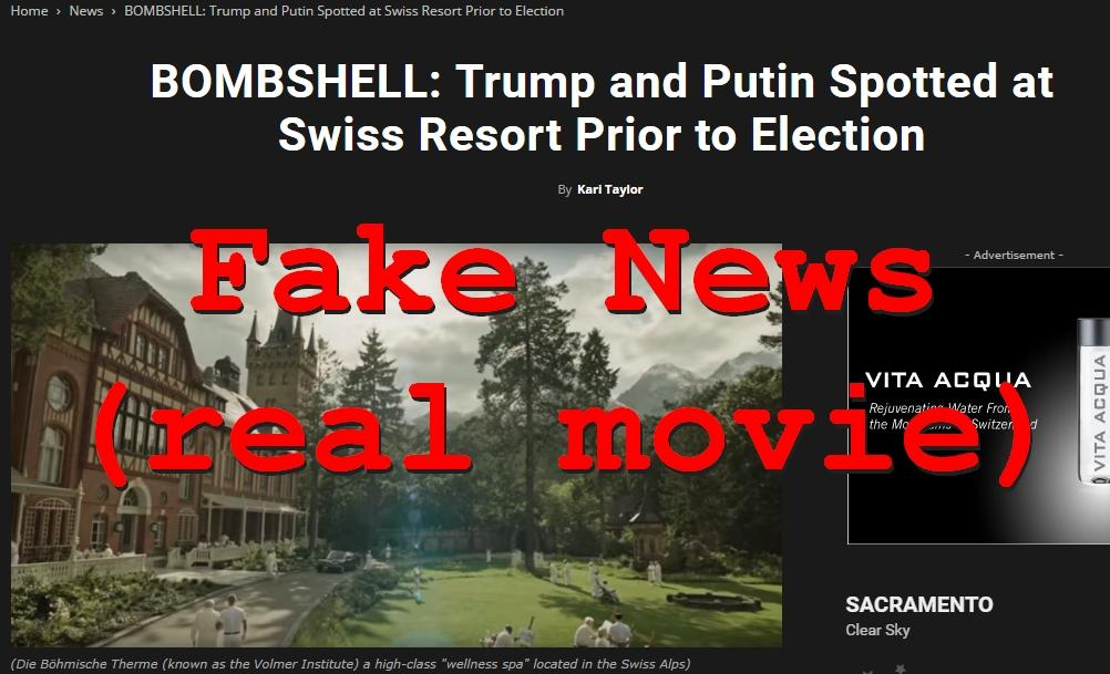 Fake News: Trump and Putin NOT Spotted at Swiss Resort Prior to Election