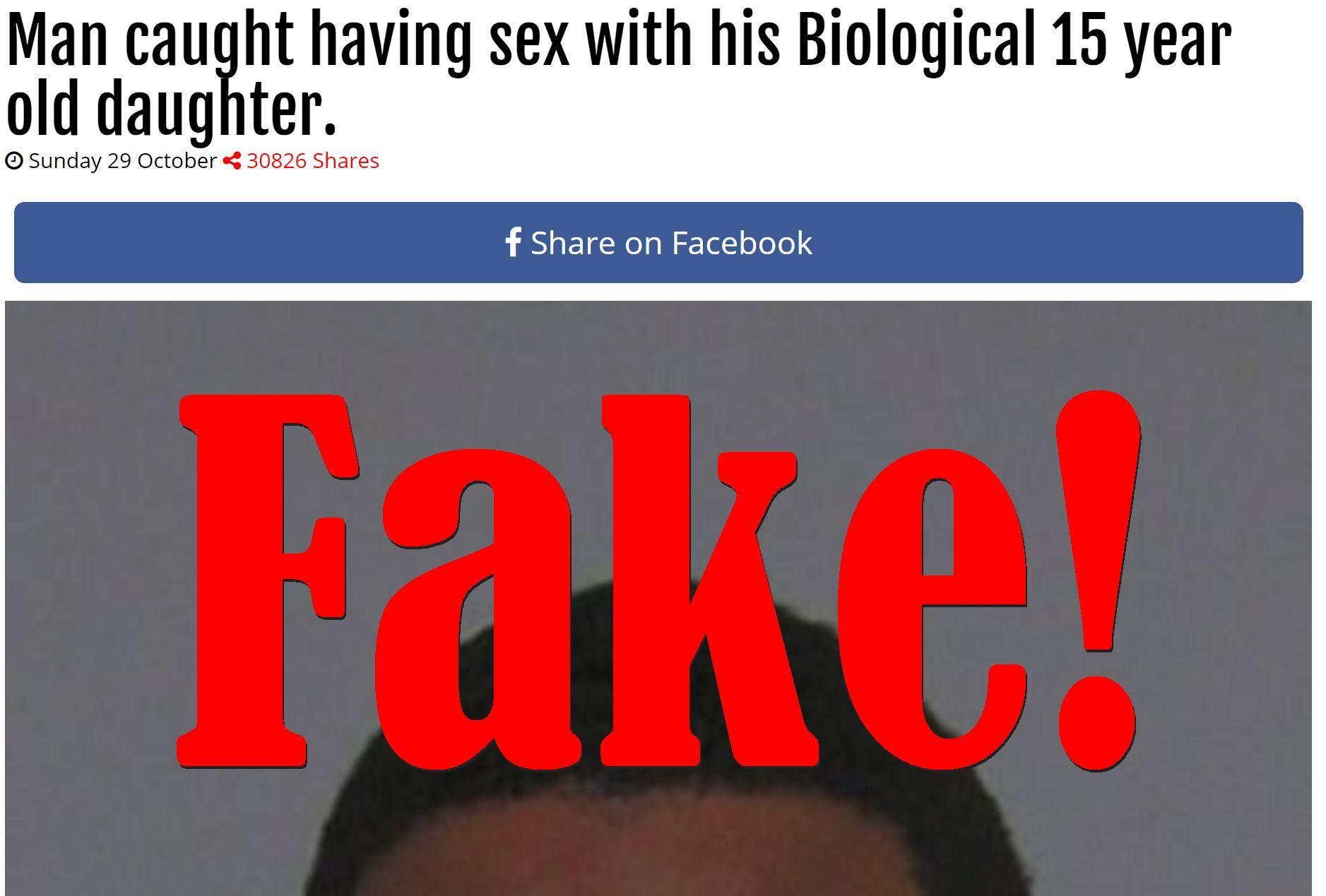 Fake News: Man NOT Caught Having Sex With Biological 15 Year Old Daughter