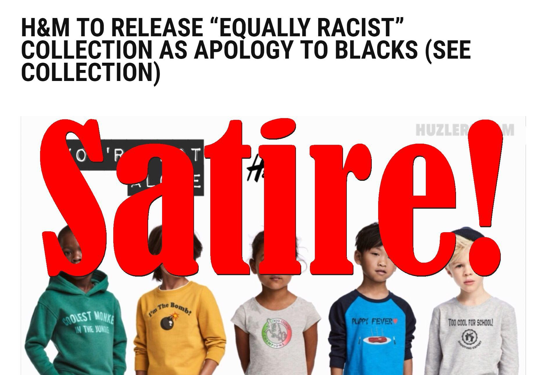 "Fake News: H&M NOT To Release ""Equally Racist"" Collection As Apology To Blacks"