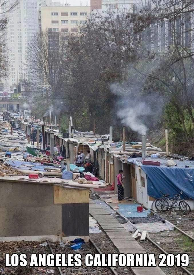 Fake News: NOT A Photo of a Shantytown in Los Angeles, California in 2019
