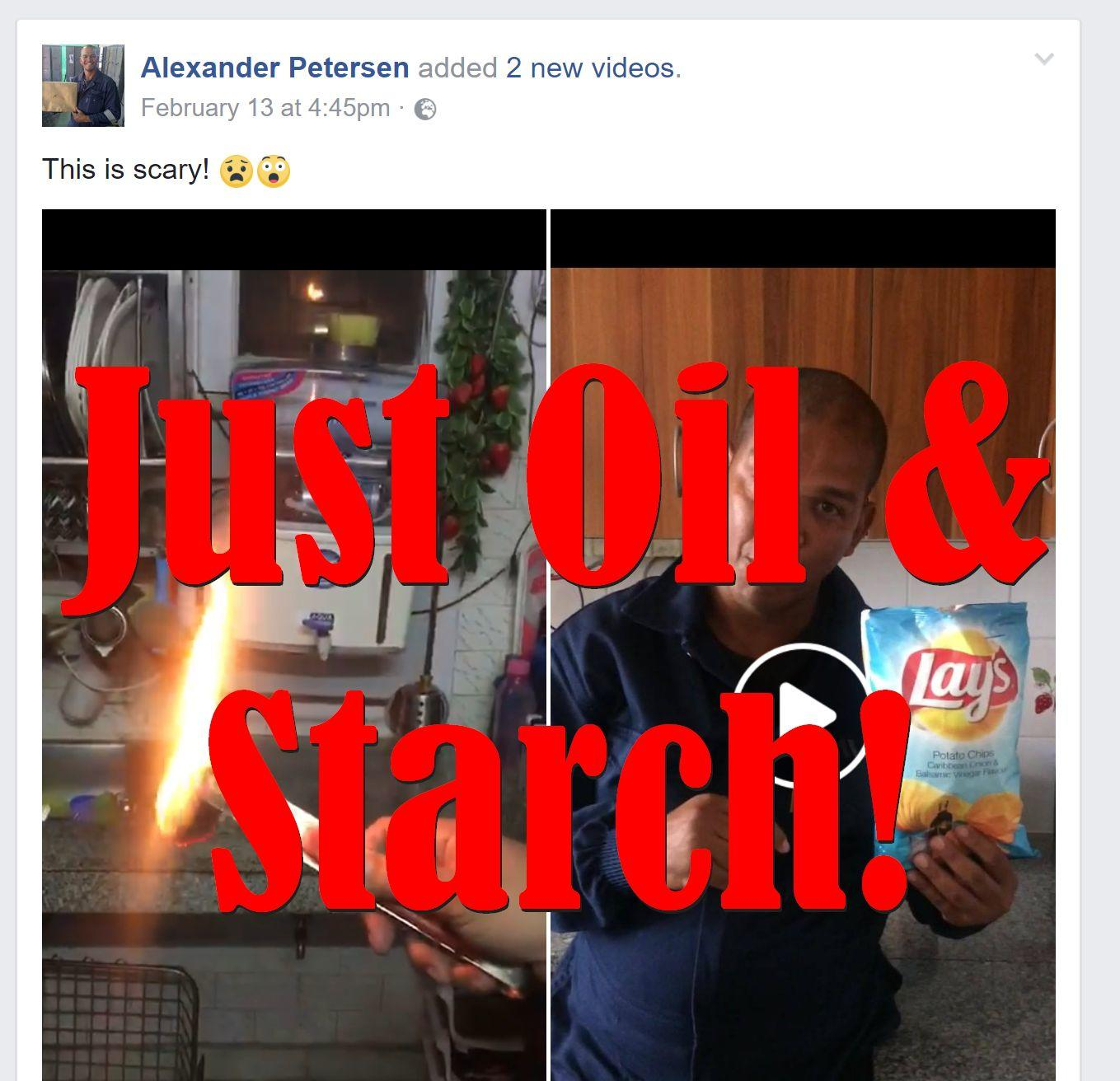 Fake News: Burning Lay's Potato Chips Does NOT Prove They Are Plastic