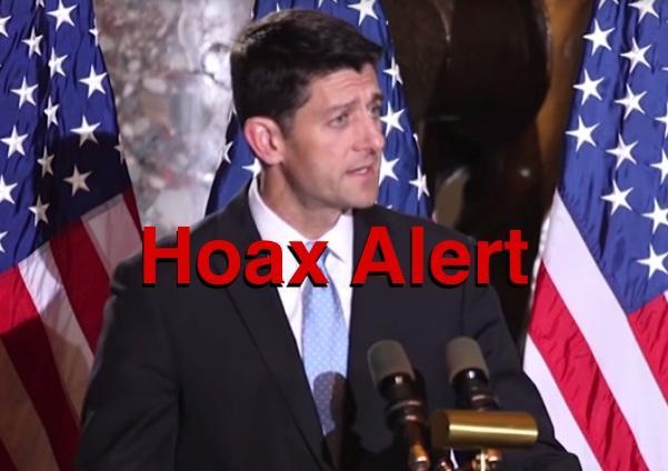 Hoax: Paul Ryan IS NOT Endorsing Hillary Clinton