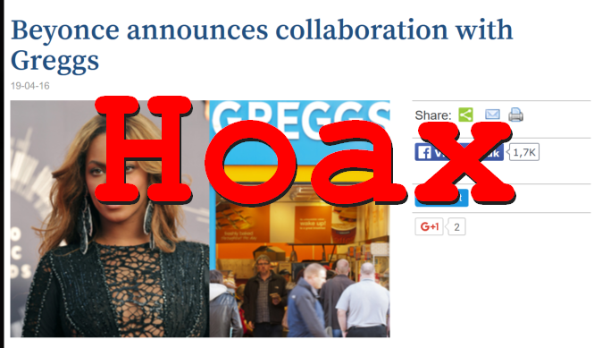 Hoax Alert: Beyonce DID NOT Announce Collaboration With Greggs