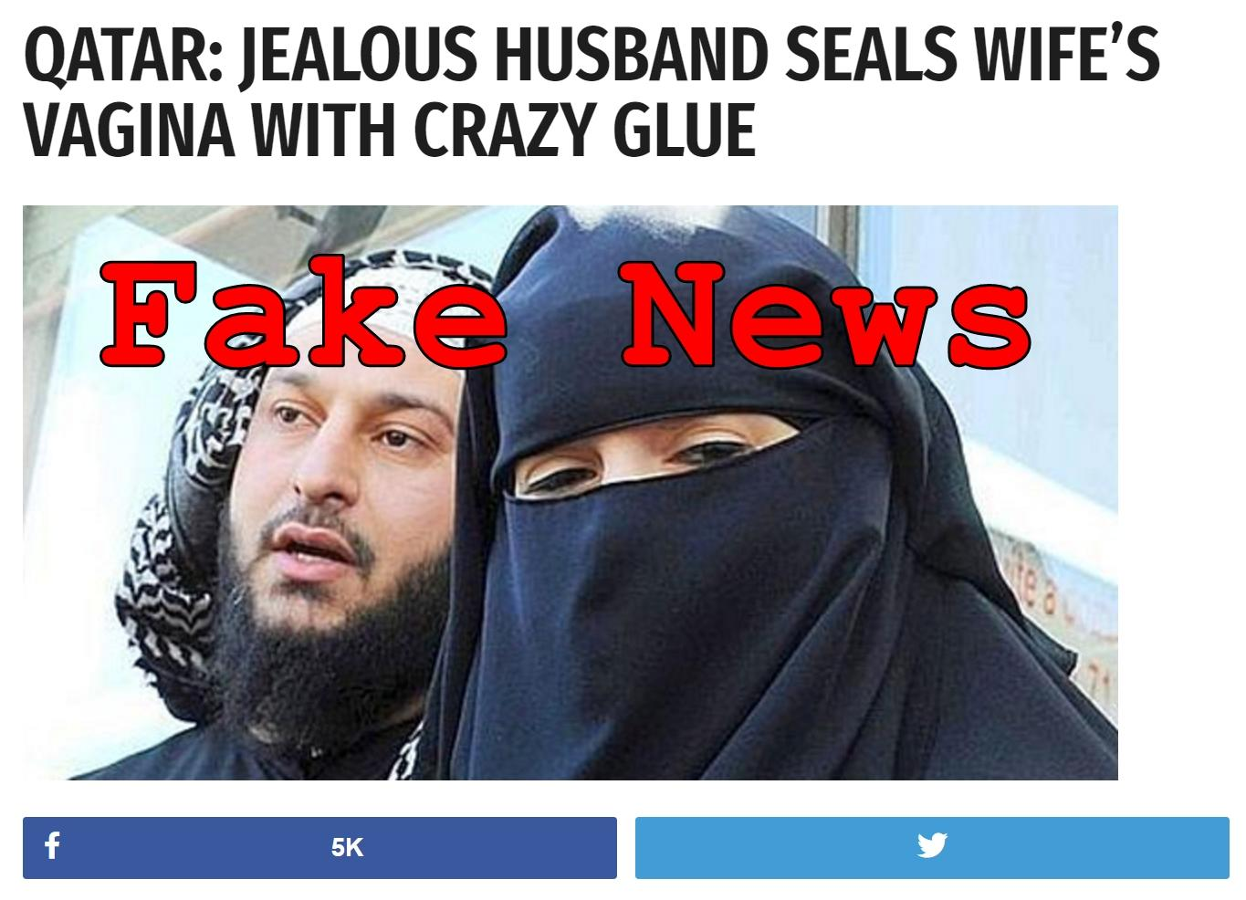 Fake News: Jealous Husband in Qatar Did NOT Seal Wife's Vagina With Crazy Glue
