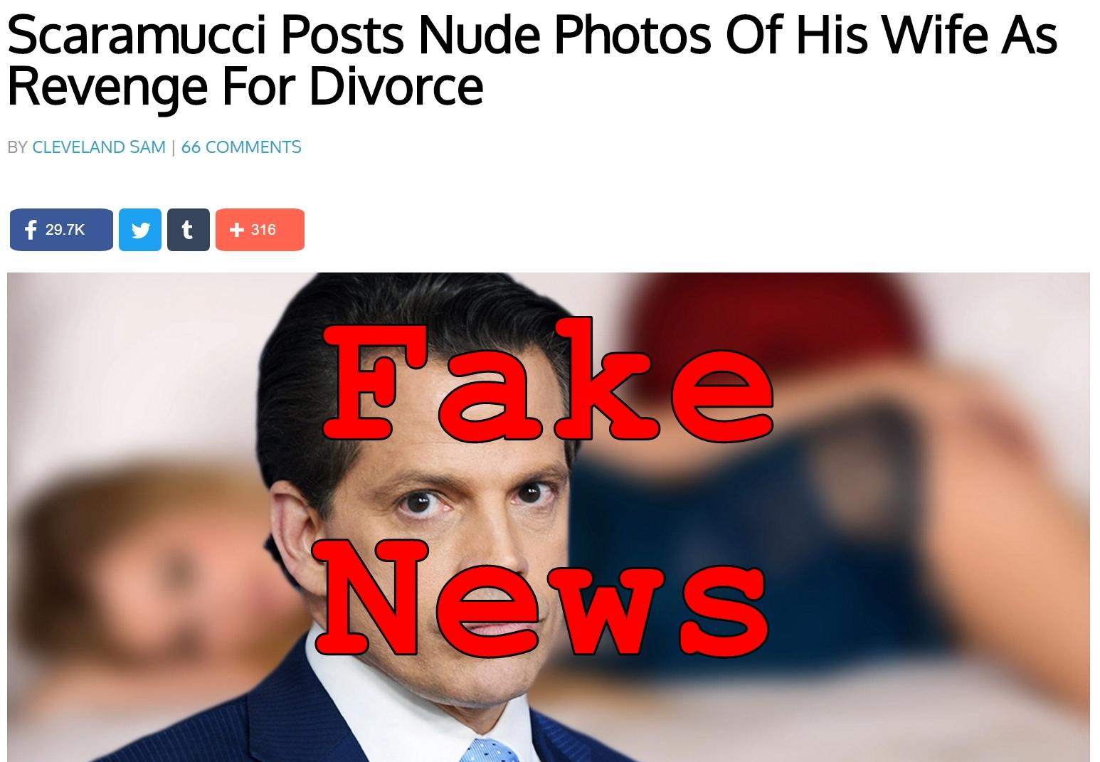 Fake News: Scaramucci Did NOT Post Nude Photos Of His Wife As Revenge For Divorce