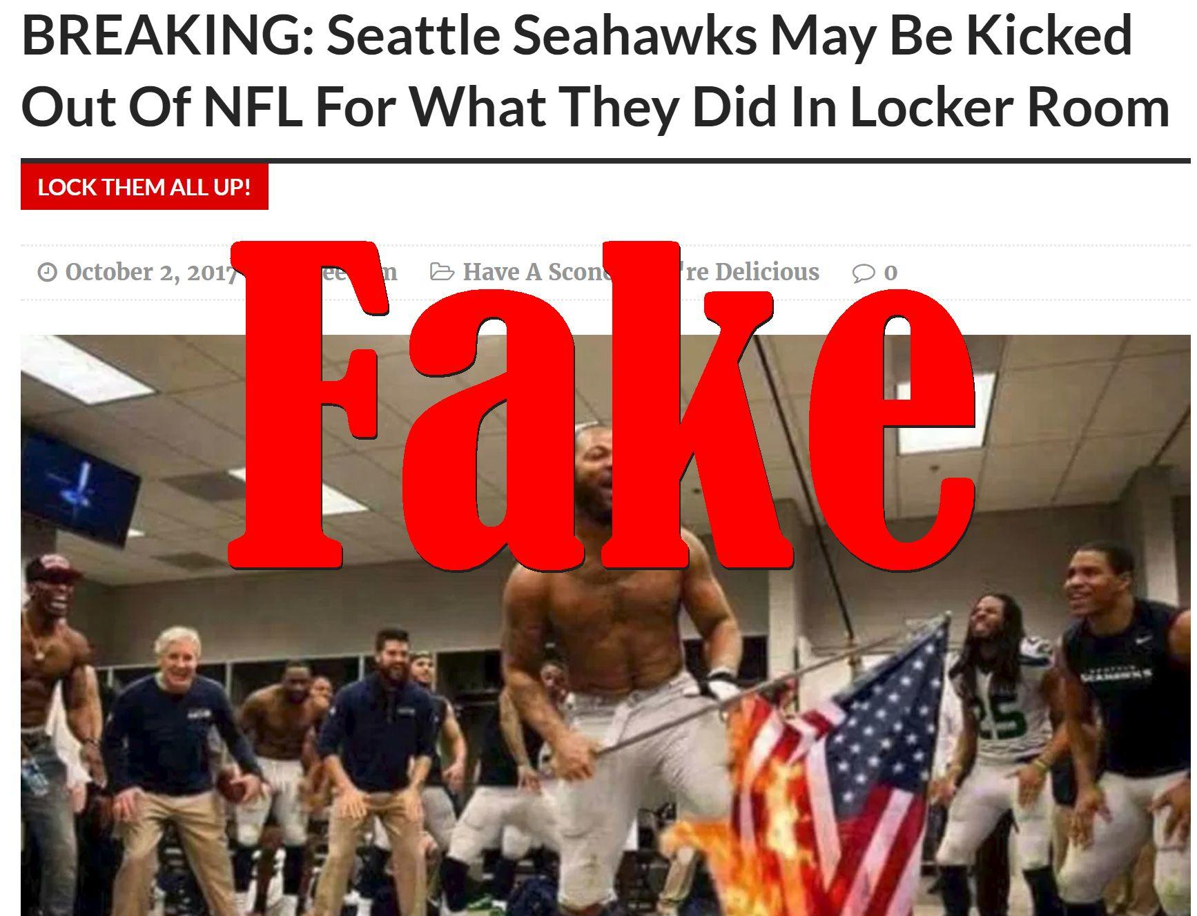 Fake News: Seattle Seahawks Will NOT Be Kicked Out Of NFL For What They Did In Locker Room