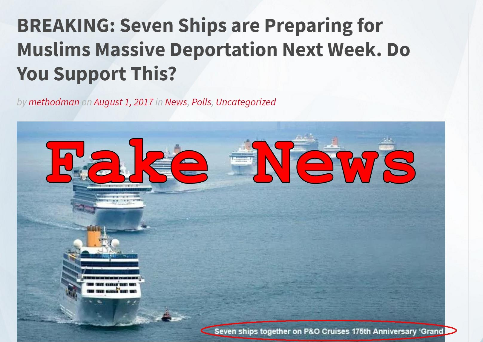 Fake News: Seven Ships (Or Ten Airplanes) Are NOT Preparing For Massive Muslim Deportation