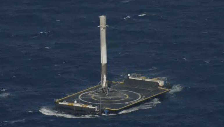 Video: SpaceX Lands Falcon Rocket on Drone Ship at Sea