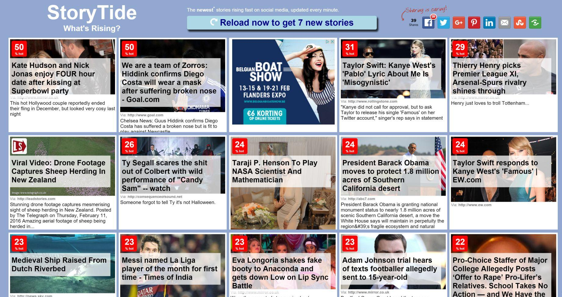 Lead Stories Launches StoryTide: Fastest Rising Fresh News Site