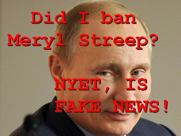 Fake News: Russia DID NOT Ban Meryl Streep Movies