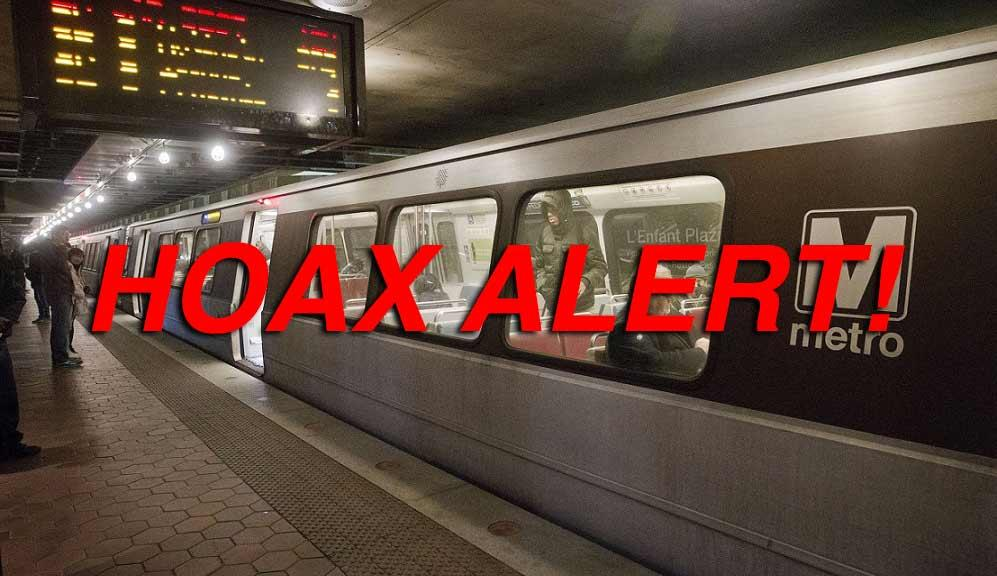 Hoax: D.C. Area Metro WILL NOT Shutdown For 21 Days In May For Maintenance