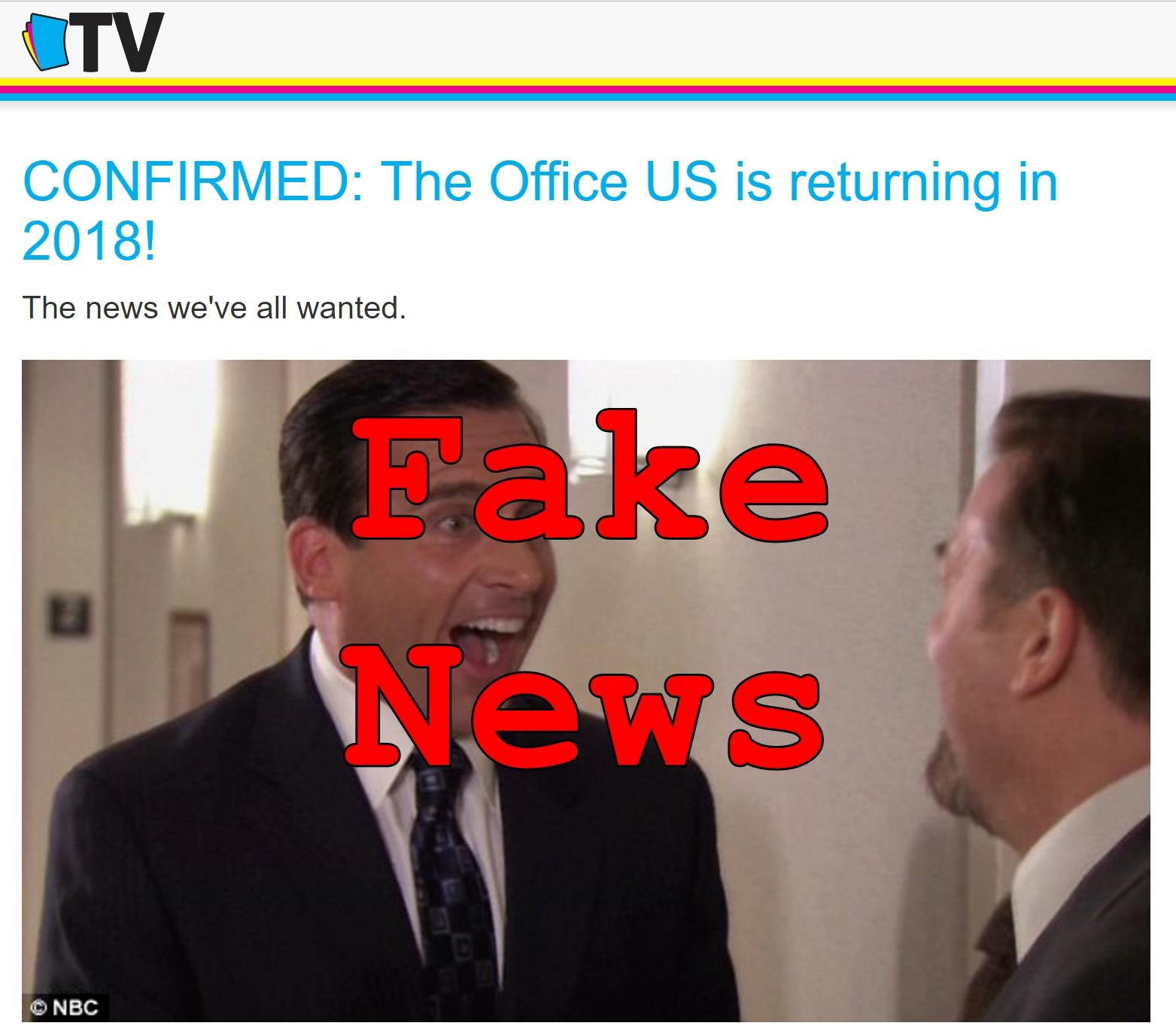 Fake News: The Office US Is NOT Returning In 2018