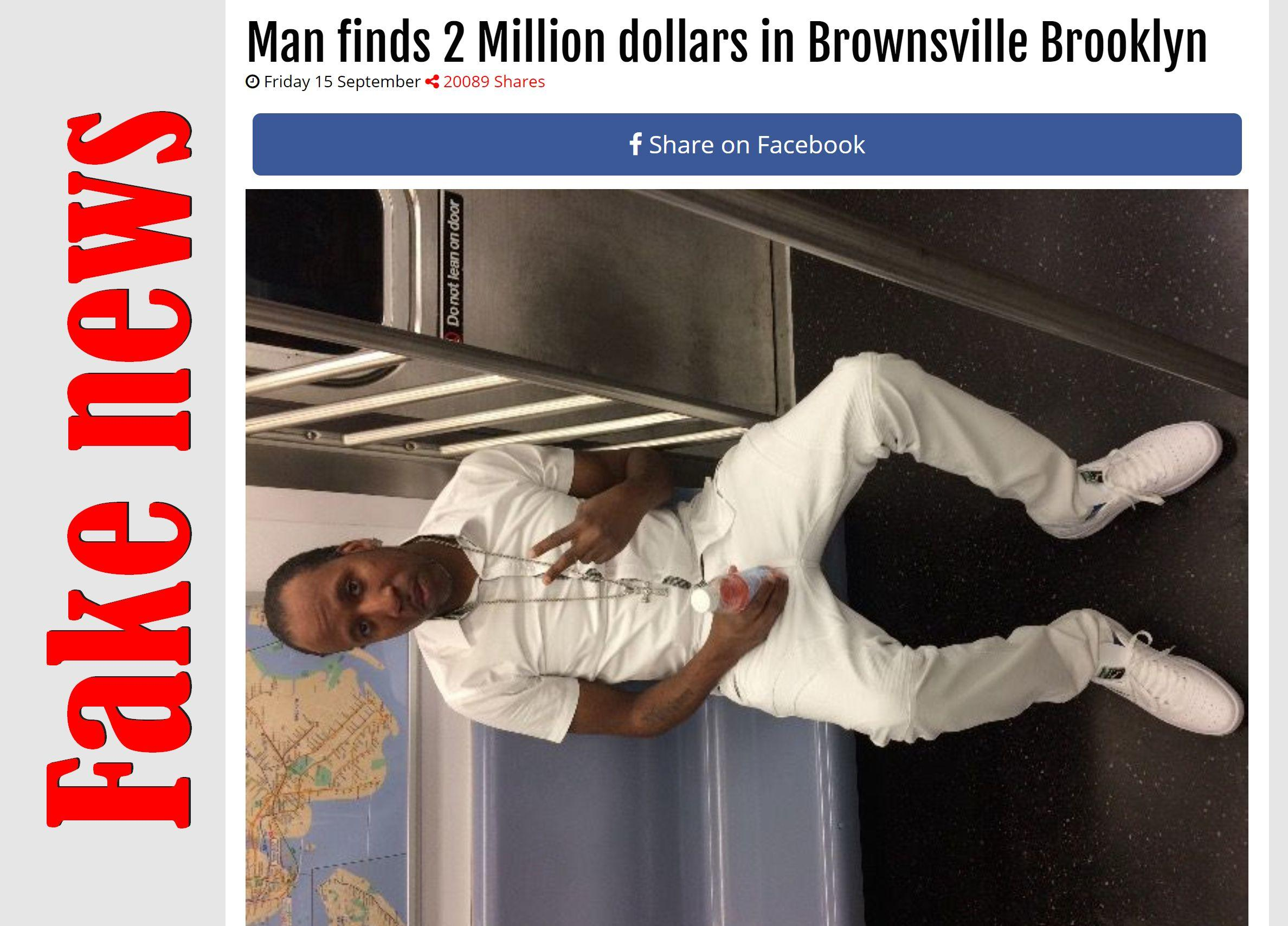 Fake News: Man Did NOT Find 2 Million Dollars In Brownsville Brooklyn