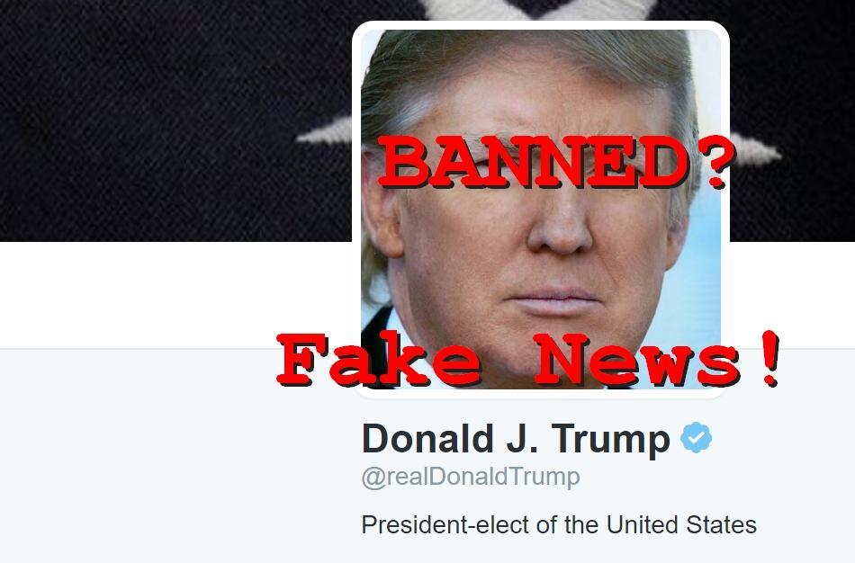 Fake News: Twitter DIDN'T Delete Donald Trump's Twitter Account