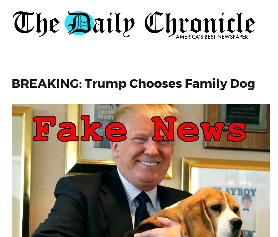 Fake News: Trump Did NOT Choose Family Dog