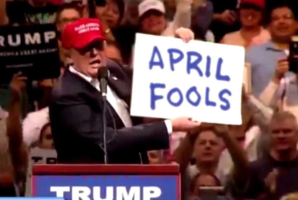 Donald Trump DID NOT Reveal Candidacy To Be April Fools Joke