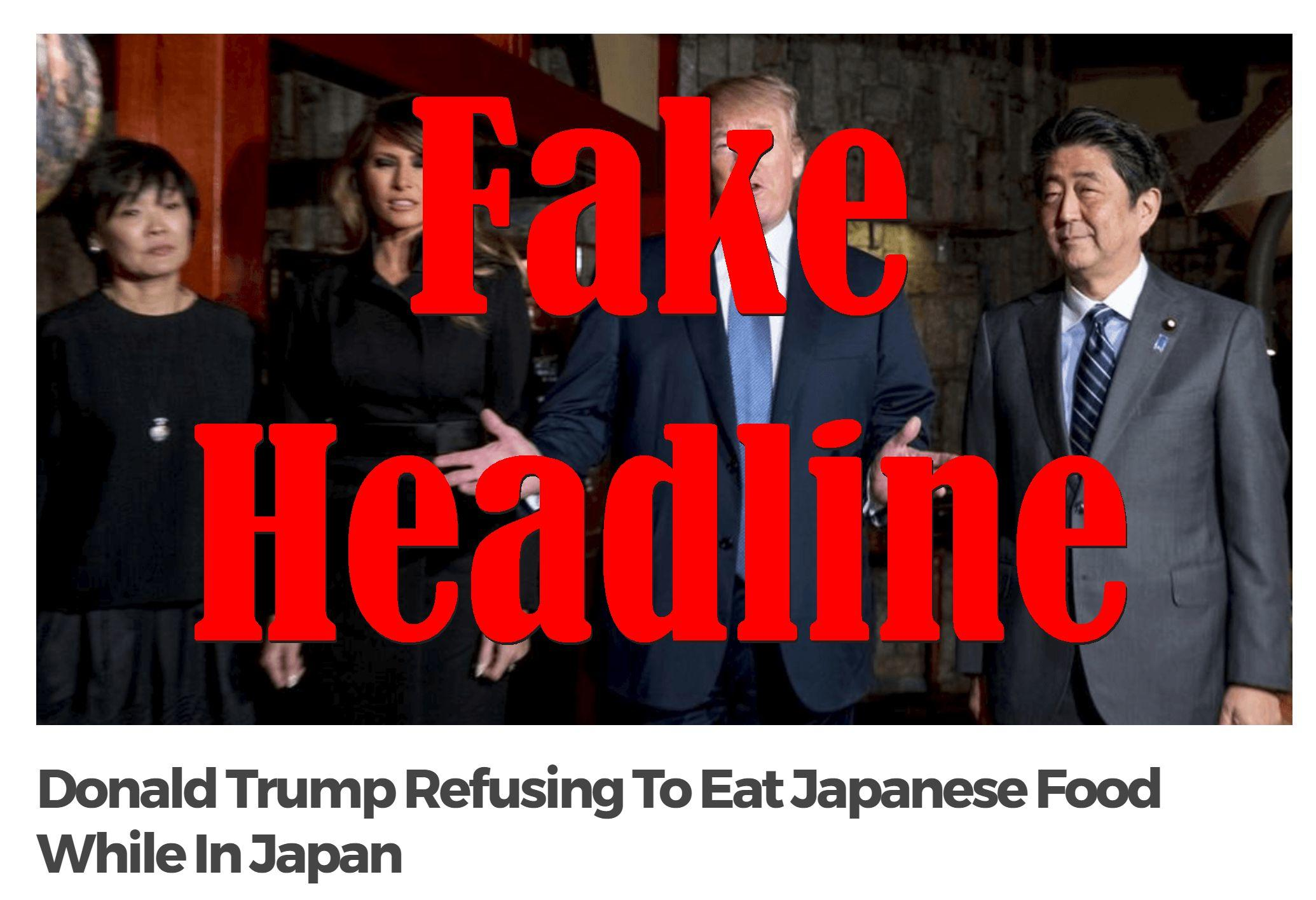 Fake News: Donald Trump NOT Refusing To Eat Japanese Food While In Japan