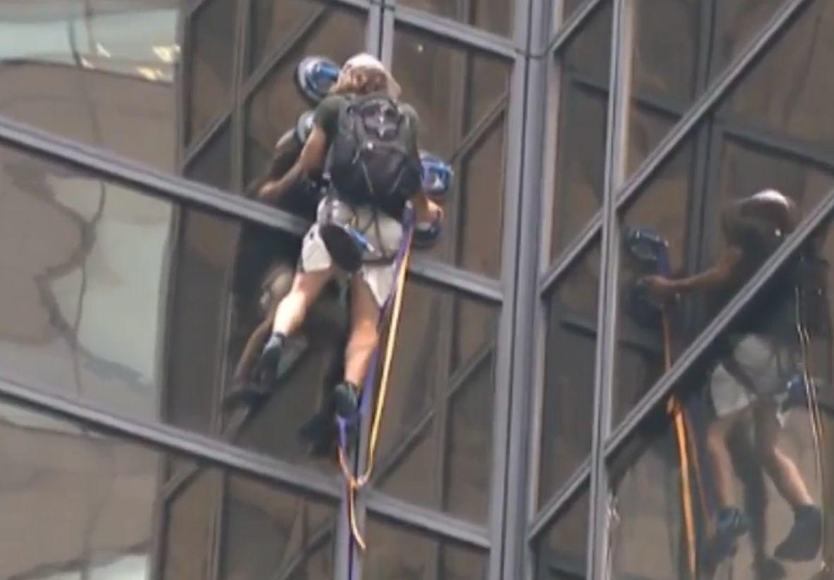 Watch Live: Guy Climbing Trump Tower in New York Using Suction Cups