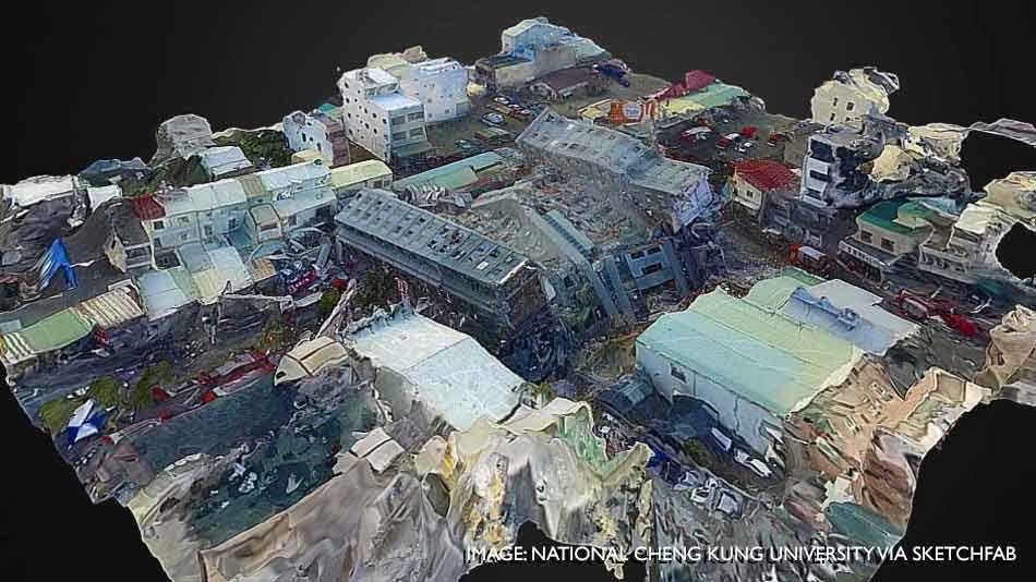 Tech: Virtual Reality Model Of Taiwan Earthquake Zone