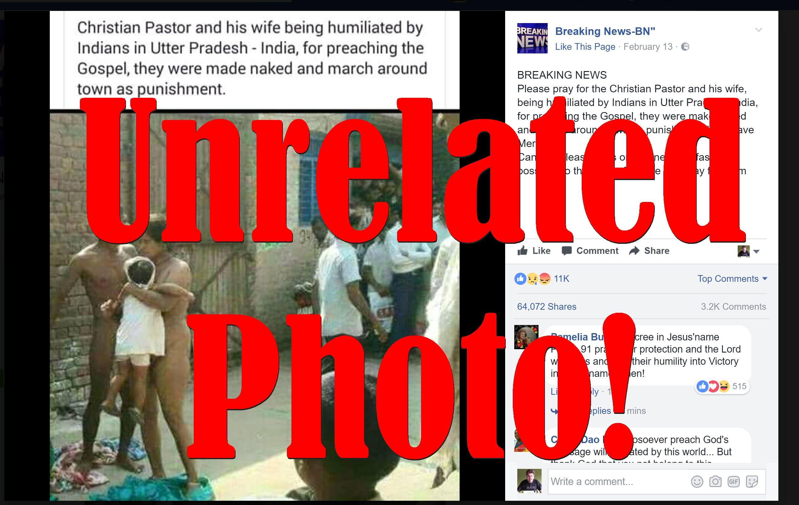 Fake News: Christian Pastor And His Wife NOT Stripped And Humiliated By Indians In Uttar Pradesh