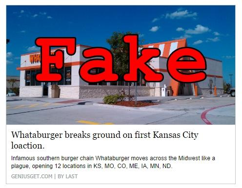 Fake News: Whataburger DID Not Break Ground on First Kansas City Location