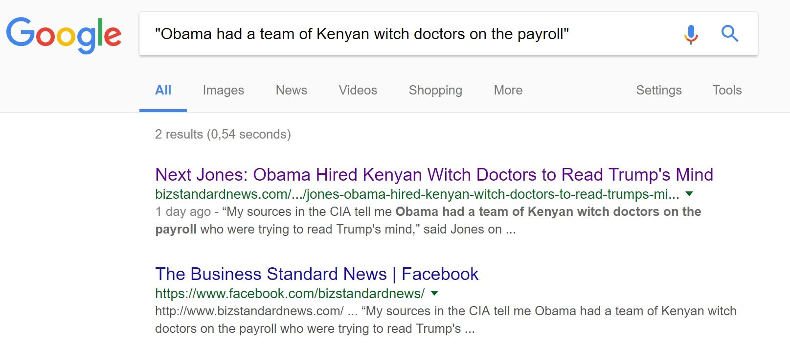 Fake News: Alex Jones Did NOT Say Obama Hired Kenyan Witch Doctors To Read Trump's Mind