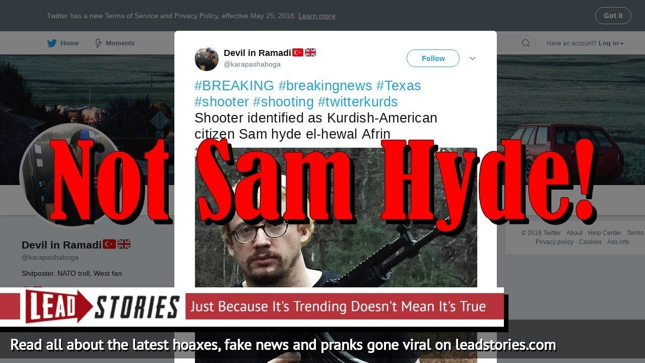 Fake News: Sam Hyde Is NOT The Santa Fe High School Shooter