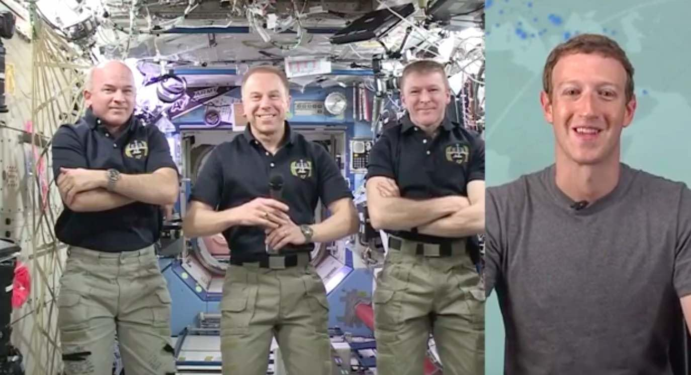 Watch Replay: Mark Zuckerberg Uses Facebook Live To Talk With Space Station
